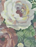Nature - Big White Rose - Mixed Media